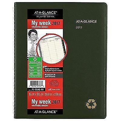 AT-A-GLANCE Weekly / Monthly Appointment Book / Planner 2017, Recycled, 8-1/4 x
