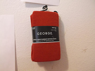 New Girls George Heavyweight Cotton Classic Red Color Tights