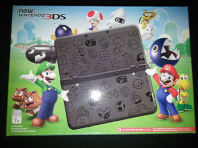 New Nintendo 3DS Super Mario Black Edition Game System Console |BRAND NEW SEALED