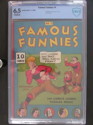 Famous Funnies #4 - CBCS 6.5 FN+ Eastern Color 1934 (2nd Buck Rogers) HIGHEST!!!