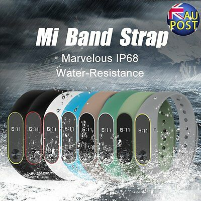 8 Colors Mibos Silicone Replacement Strap Wrist Band for Miband 2 Soft Belt ER