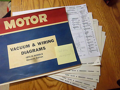 1975 1976 Ford Elite Mercury Cougar Electrical Wiring Circuit Diagram Schematic 1975 ford elite wiring diagram wiring diagrams Ford Wiring Harness Kits at edmiracle.co