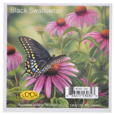 NEW Black Swallowtail Butterfly Microfiber Glasses Cleaning Cloth Cleans Mobile