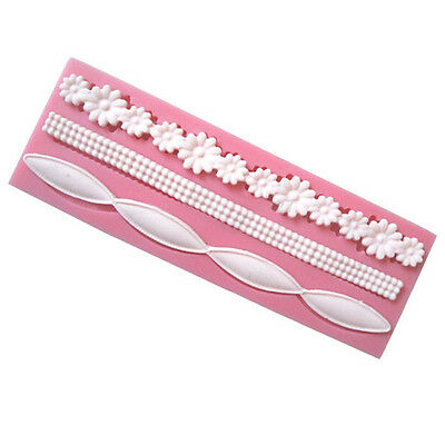 New Diy 3D Flower Silicone Cake Molds Fondant Tools Decorating Baking Tool Mould