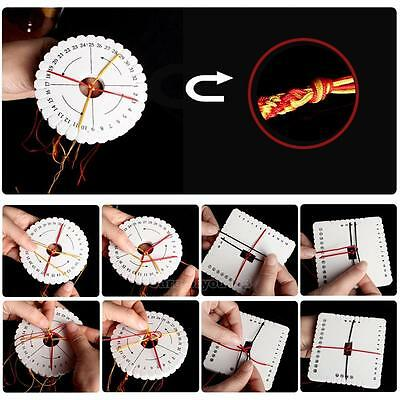 2Pc Round Square Kumihimo Beading Cord Disc/Disk Braiding Plate 10cm DIY Braided