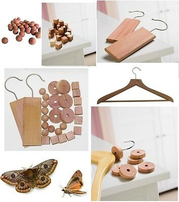 Moth Cedar Balls / Hanger / Rings Repellent Anti Mildew Natural Wood Deterrent