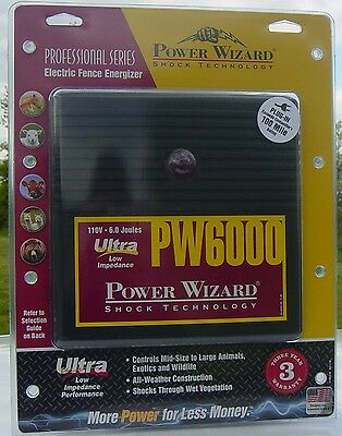 electric fence charger energizer 6 joule power wizard 100 miles 20.00 discount
