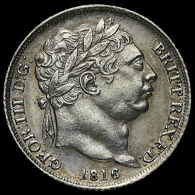 1816 George III Milled Silver Sixpence – A/EF