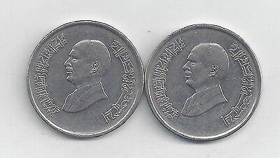 2 DIFFERENT 10 PIASTRE COINS from JORDAN (1993 & 1996)