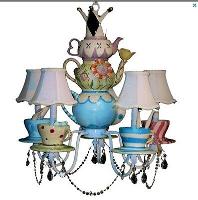 Alice In Wonderland Mad Hatter Tea Party Chandelier