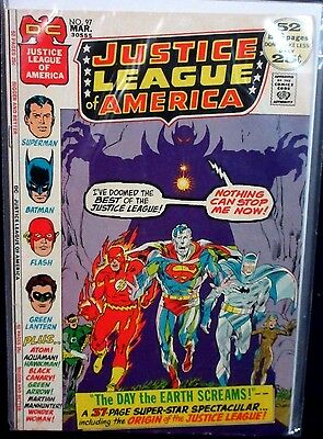 JUSTICE LEAGUE OF AMERICA #97 (VG+) Origin of the JLA Retold DC Classic 52 Pages