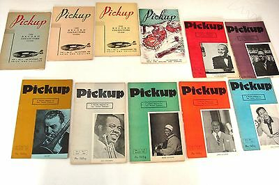 Pickup Music Magazine - Lot Of 11 - 1946 & 1947 Jazz Records Ads Articles Orig
