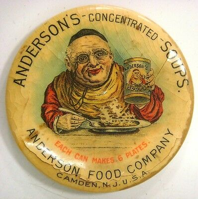 Anderson's consentrated Soups, each can makes 6 plates,  Camden, N.J.  U.S.A.
