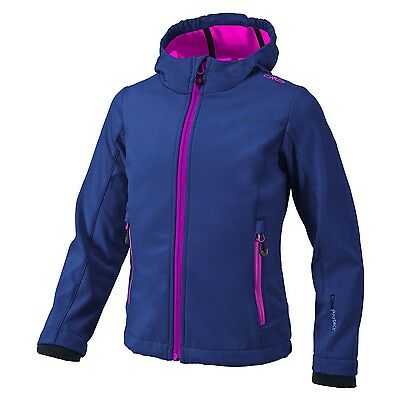 Campagnolo Girl Hiking Leisure Softshell jacket with hood navy / purple
