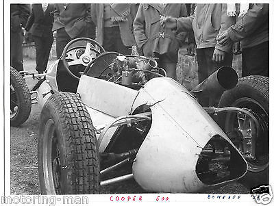 Cooper 500 Bemeree 1957 F3 Junior Rare Period Photograph Foto