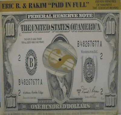 "ERIC B & RAKIM - Paid In Full ~ 12"" Single PS"