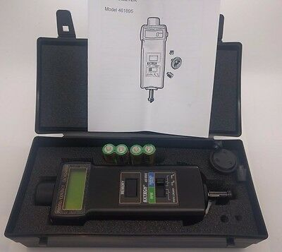 NEW! Extech Instruments Combination Photo/Contact Tachometer 461895 Open Box