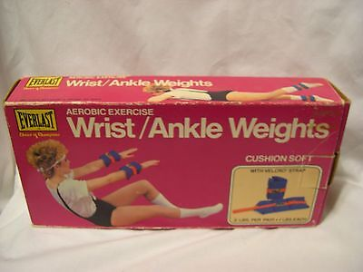 vintage EVERLAST boxed ankle or wrist weights 1980's new old stock