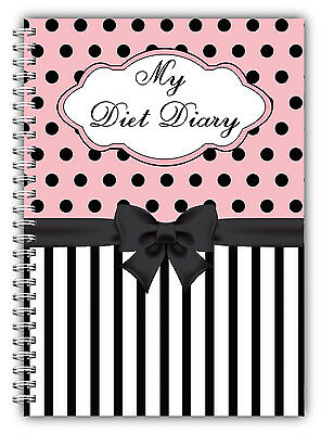 Wire Bound A5 Diet Diary, Slimming Tracker, Food Diary, Weight Loss Journal Spot