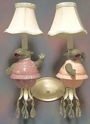 Children's Wall Sconce - Dancing Hippos