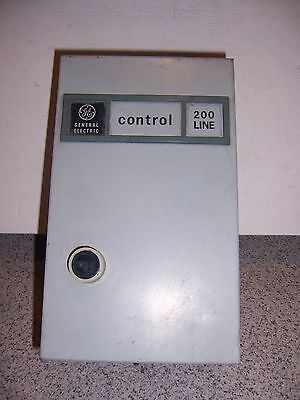 Ge Cr206 Size 1 Magnetic Starter 200 Line With Enclosre 3 Pole   10 Hp