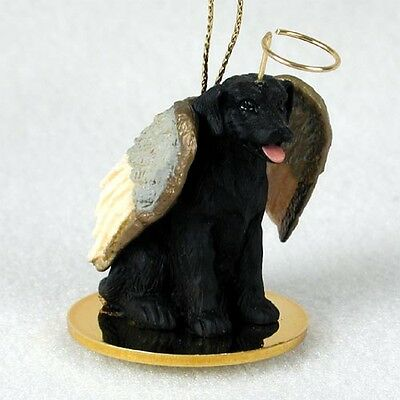 Labrador Retriever Black Lab Dog ANGEL Tiny One Ornament Figurine Statue