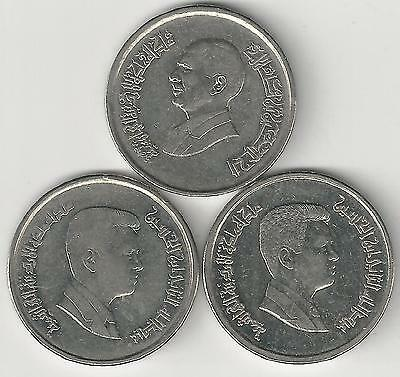 3 DIFFERENT 10 PIASTRE COINS from JORDAN (1996, 2000 & 2006)
