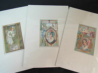 French Vintage Advertising Trade Cards Liebig Veritable Extrait Antique~