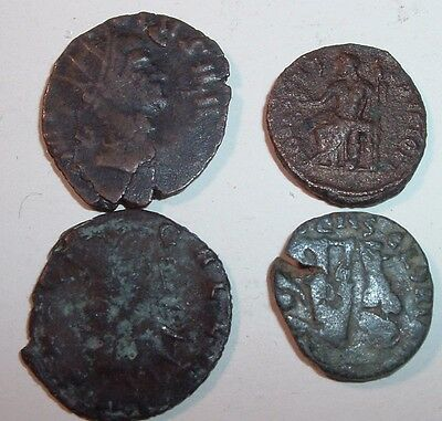Group of 4 Copper Unidentified / Need Research  Ancient Roman Coins  , Lot #3