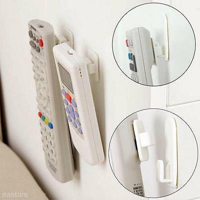 2 sets Self Adhesive Remote Control Home Wall Door Holder Hook Hanger Organizer#
