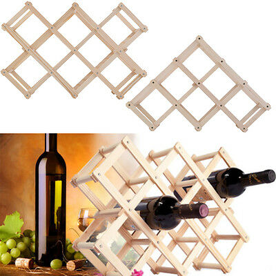 Wooden Red Wine Rack 3/6/10 Bottle Holder Mount Kitchen Bar Display Shelf NU