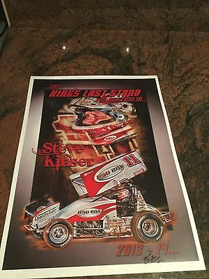 Steve Kinser The Kings Last Stand In Australia Print