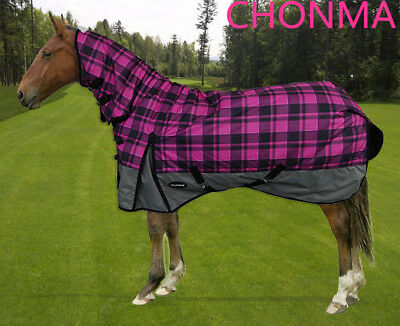 CHONMA  600D 250G Fill Winter Waterproof BreathableTurnout Horse Rug Combo-A48