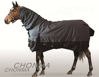 CHONMA  600D 250G Fill Winter Waterproof BreathableTurnout Horse Rug Combo-A31