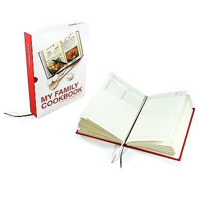 My Family Recipe Red Hardback Journal/Cook Book For Own Written Recipes Gift NEW