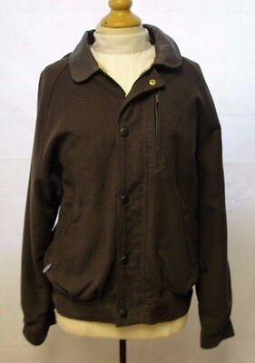 Men's Barbour Brown Moleskin Blouson Jacket Size Small