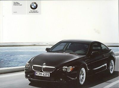 2004 BMW 645Ci Coupe Prestige Brochure d0733