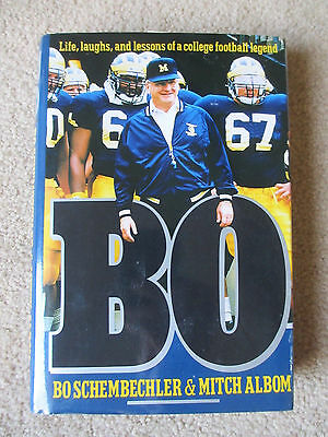 Signed Bo Schembechler BO Life Laughs Lessons of a College Football Legend HC/DJ