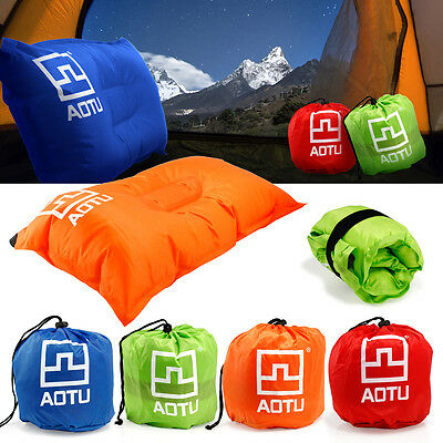 Portable Outdoor Self-Inflating Pillow Travel Summer Camping Hiking Air Cushion