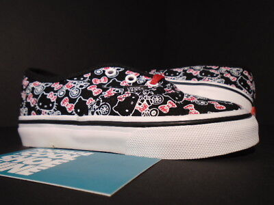 4dc616fd9692f9 Baby 2011 VANS AUTHENTIC TD HELLO KITTY BLACK WHITE RED VN-0JXIL8S NEW 8C 8