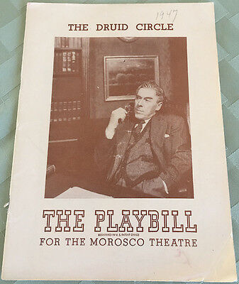 Five Playbills  From 1940's & 1950's  Bolger Carroll Gielgud Harris Power Waters