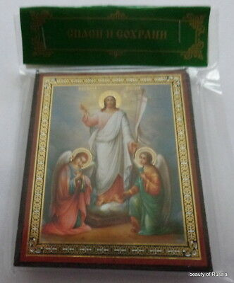 Russian wood icon Resurrection of Christ-Pascha #2