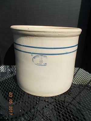 Vintage Double Stripe Marshall Pottery 5 Gallon Crock
