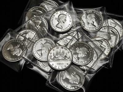 Lot of 20 - 1963 Canada Prooflike Uncirculated Silver Dollars