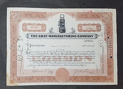 The Gray Manufacturing Company Stock Certificate