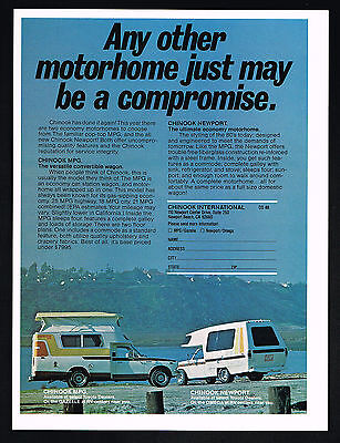 1978 Chinook Motorhome MPG Newport Toyota Vintage Photo Print Ad
