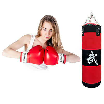 70cm Boxing Empty Punching Sand Bag with Chain Training Practice Martial U@