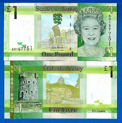 Jersey P-32 One Pound ND2010 Queen Elizabeth ll Uncirculated FREE SHIPPING