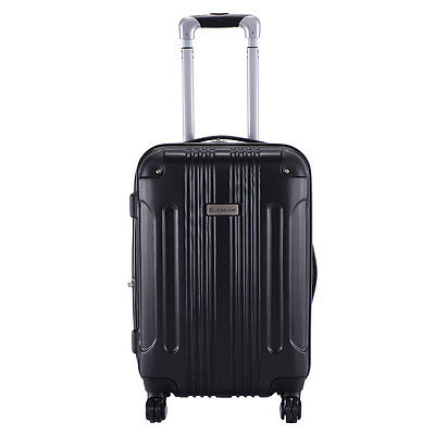 "Expandable 20"" ABS Carry On Luggage Travel Bag Trolley Hard Shell Suitcase US"