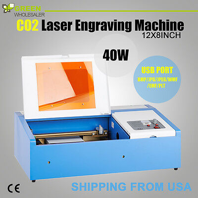 40W USB DIY Laser Engraver Cutter Engraving Cutting Machine Laser Printer CO2